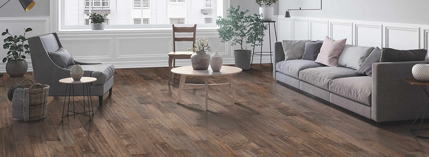Numerous choices of wood flooring at Ramsey Flooring.
